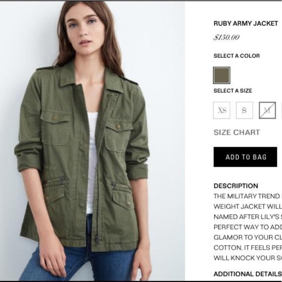 847211baa42b3f ... Lily Aldridge for Velvet, Army Jacket. M_5a56c23c739d48dcff00ce0e